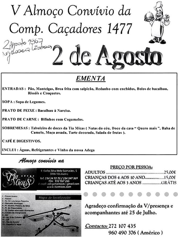 02Ago2014: V Almoço Convívio da Companhia de Caçadores 1477 Ccac1410