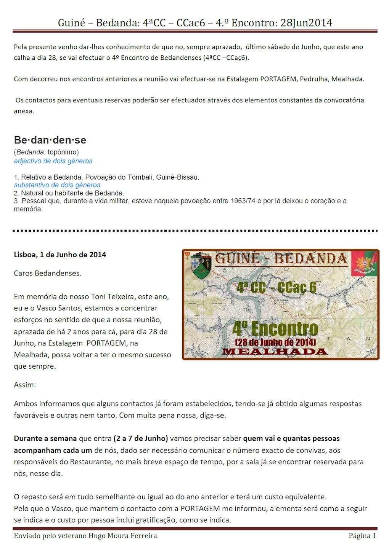 28Jun2014: Guiné – Bedanda: 4ªCC – CCac6 – 4.º Encontro - Mealhada Comuni10