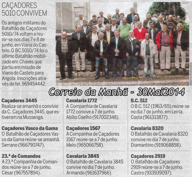 Encontros Convívios de ex-Militares Portugueses, in Correio da Manhã, de 30Mai2014 Conviv10