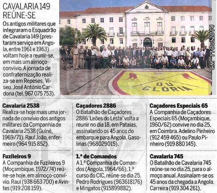 Encontros Convívios de ex-Militares Portugueses, in Correio da Manhã, de 11Out2014 Conviv11