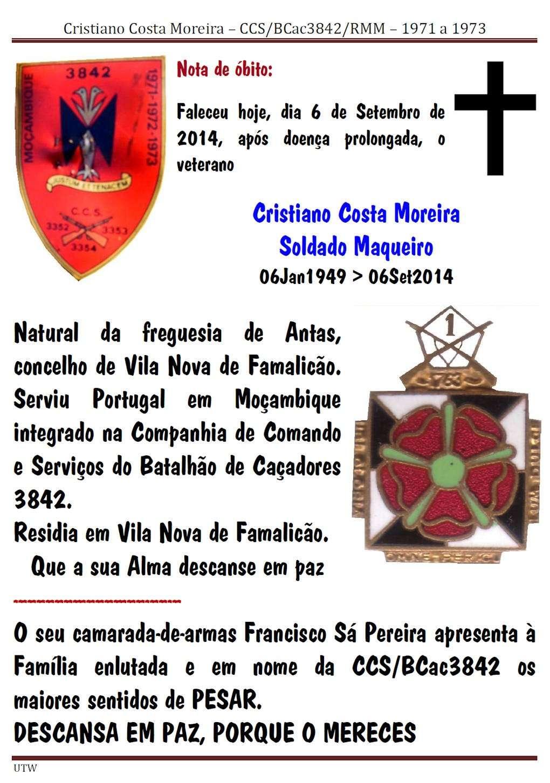 Faleceu o veterano Cristiano Costa Moreira, Soldado Maqueiro da CCS/BCac3842 - 06Set2014 Cristi10