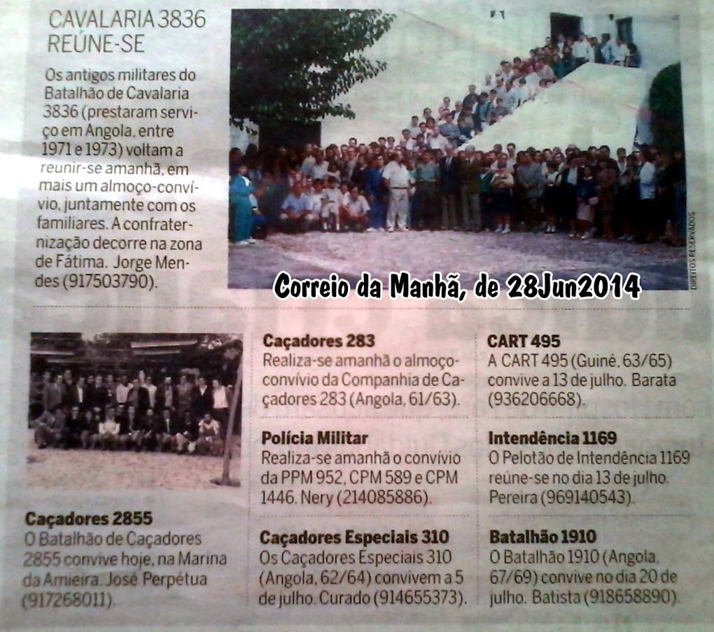 Encontros Convívios de ex-Militares Portugueses, in Correio da Manhã, de 28Jun2014 Encont10