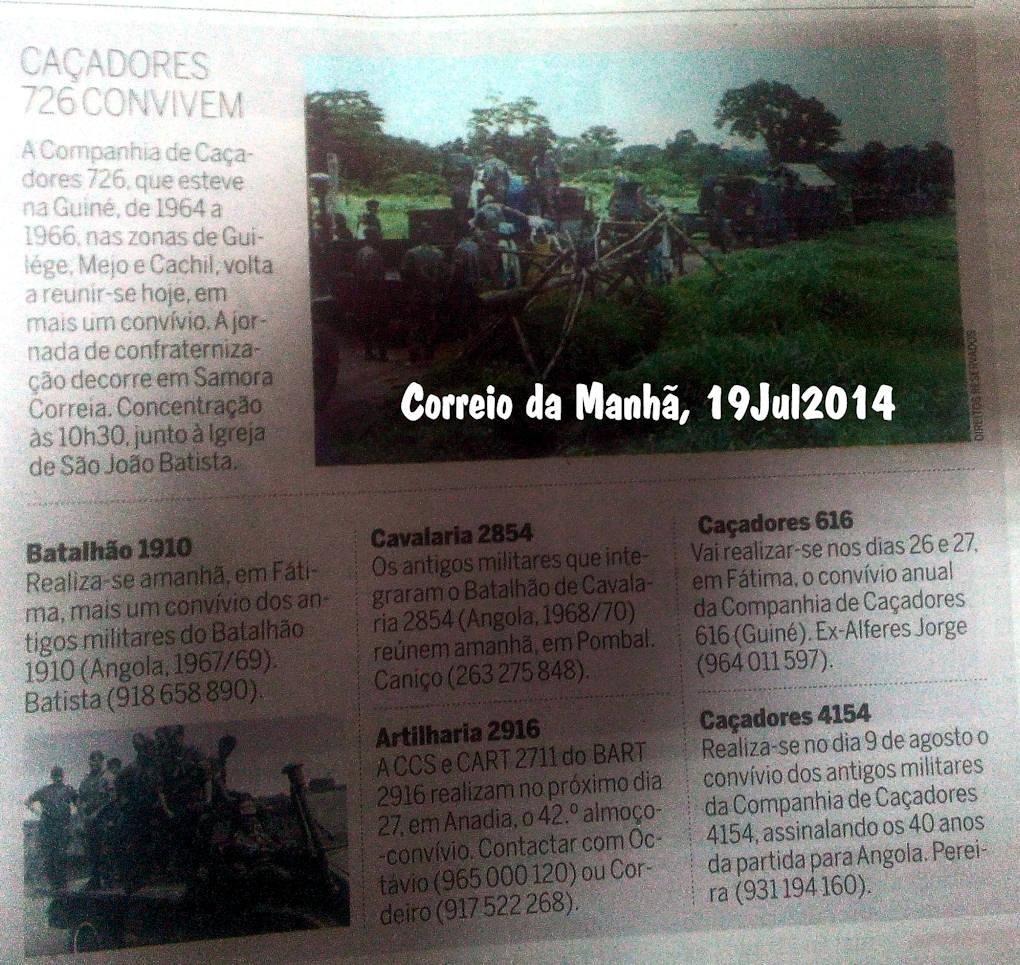 Encontros Convívios de ex-Militares Portugueses, in Correio da Manhã, de 19Jul2014 Encont12