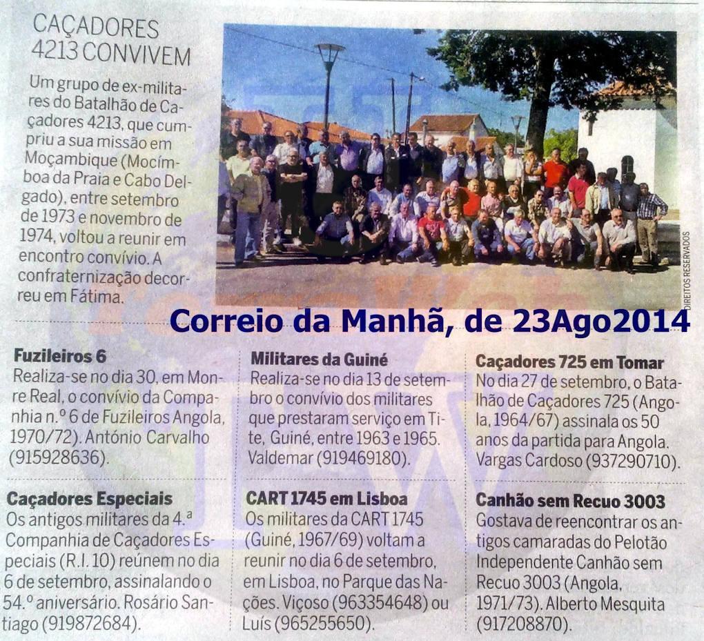 Encontros Convívios de ex-Militares Portugueses, in Correio da Manhã, de 23Ago2014 Encont17