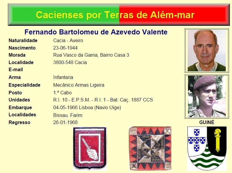 Faleceu o veterano Fernando Bartolomeu de Azevedo Valente da CCS/BCac1887 - 18Set2014 Fernan10
