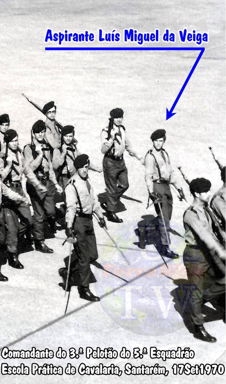 Aspirante Luís Miguel da Veiga - Comandante do 3.º Pelotão do 5.º Esquadrão - EPC - 17Set1970 Luys_m12