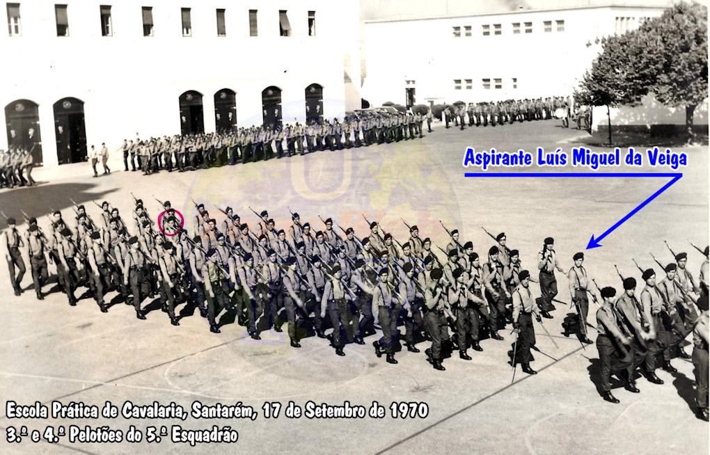 Aspirante Luís Miguel da Veiga - Comandante do 3.º Pelotão do 5.º Esquadrão - EPC - 17Set1970 Luys_m13