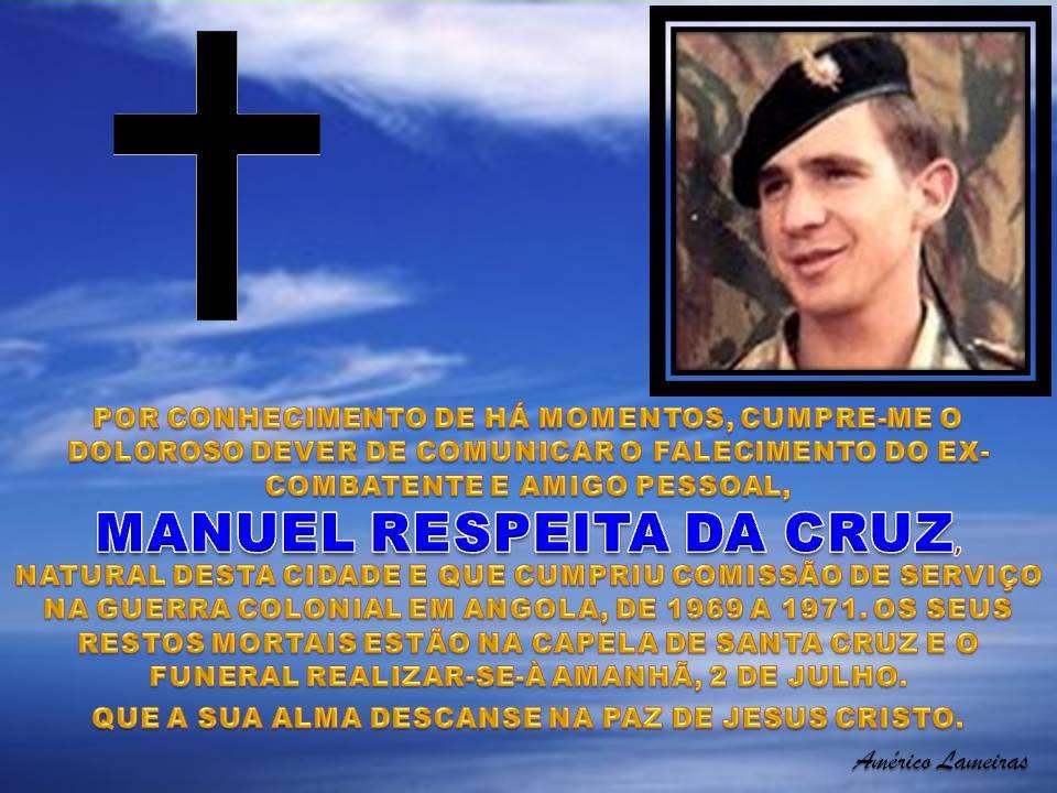 Faleceu o veterano Manuel Respeita da Cruz - Angola 1969 a 1971 - 01Jul2014 Manuel10