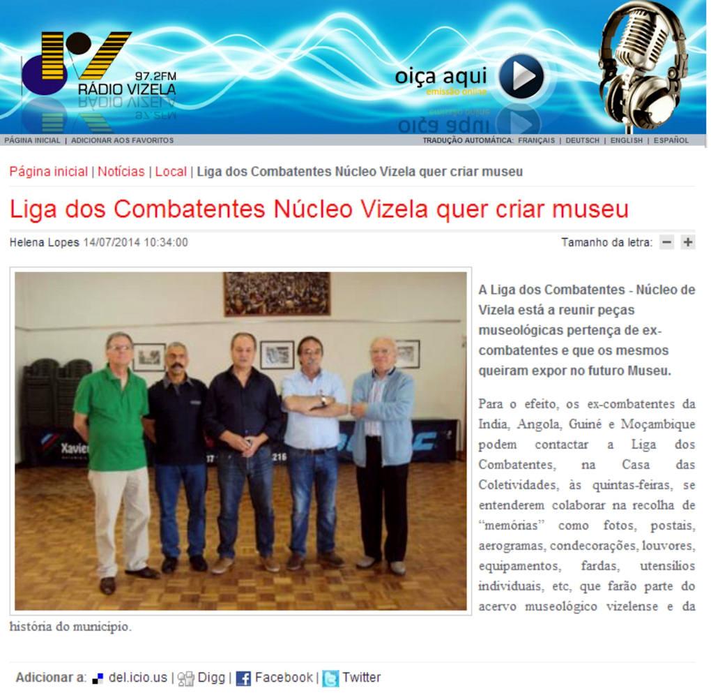 Núcleo de Vizela está a reunir peças museológicas pertença de ex-combatentes ...  Nucleo10