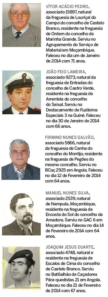 Notas de óbito: Veteranos da Guerra do Ultramar, publicadas no jornal ELO, da ADFA, de Abril de 2014 Obitos11