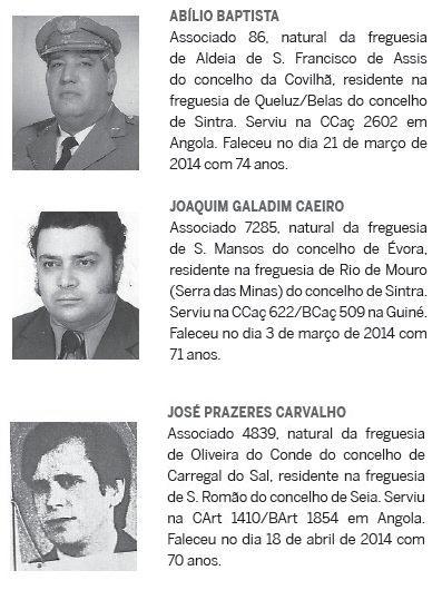 Notas de óbito: Veteranos da Guerra do Ultramar, publicadas no jornal ELO, da ADFA, de Junho de 2014 Obitos12