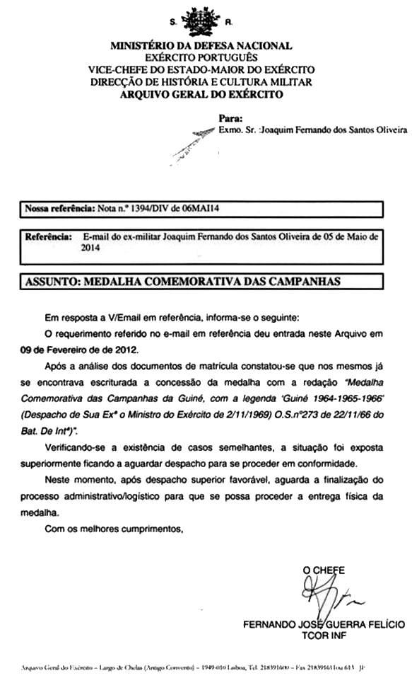 Medalha Comemorativa das Campanhas - Santos Oliveira Oficio10