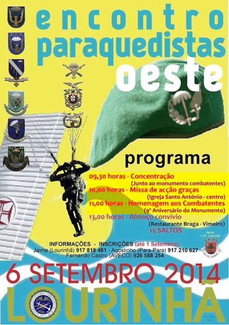 Encontro de Pára-Quedistas OESTE - Dia 6 de Setembro de 2014 Pqsoes10