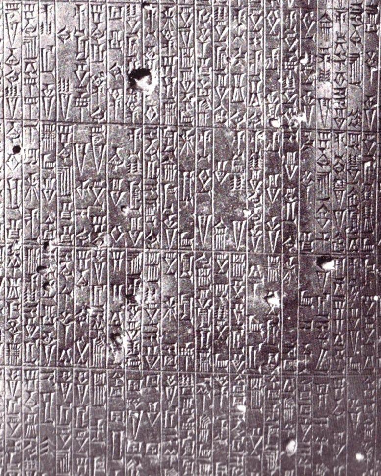 Les écrits anciens Table11