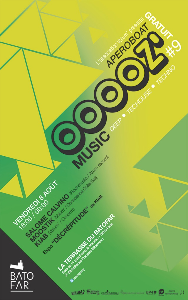 OOOOZ' Music #9: Terrasse Batofar: Mixs et expo - 08/08/14 Ooooz_10