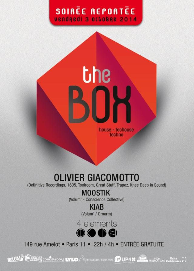 THE BOX avec OLIVIER GIACOMOTTO: 3octobre - 4 Eléments 2.0 The_bo11