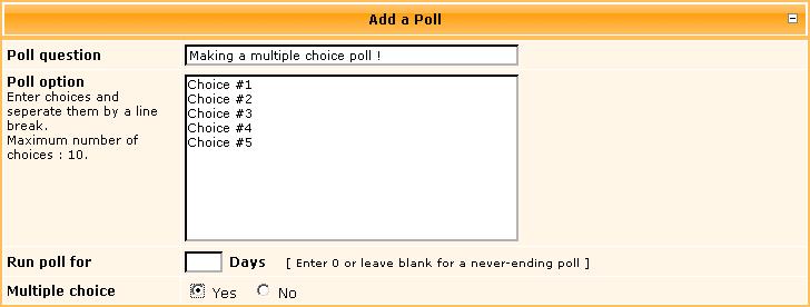 Creating Polls Polls210