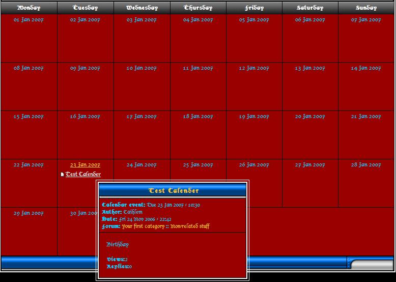 The Calendar Sansti10