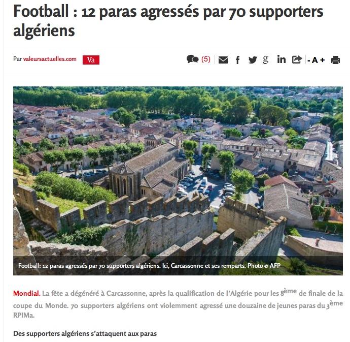 Pauvre France. Pauvres paras. Pauvre 3 ! . Une grosse bagarre a éclaté place Davilla entre soixante-dix supporters et des paras du 3e RPIMa... Para_t10