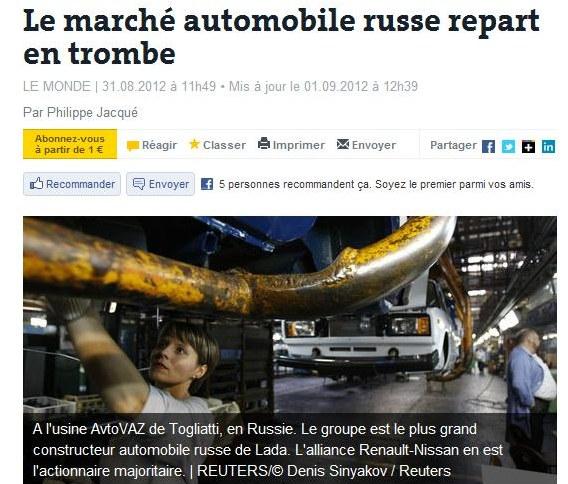 Le marché automobile russe repart en trombe - Par Philippe Jacqué Lemond11