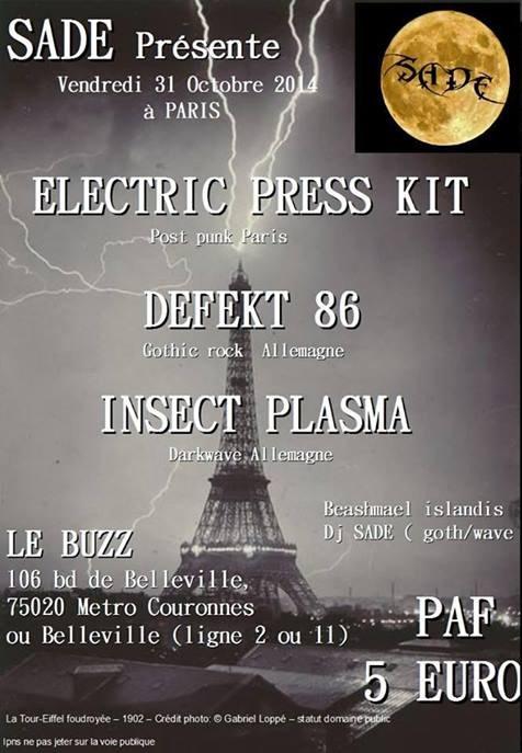 [31.10.14] Electric press kit+Defekt 86+Insect Plasma-La cantine-Paris   31_oct10