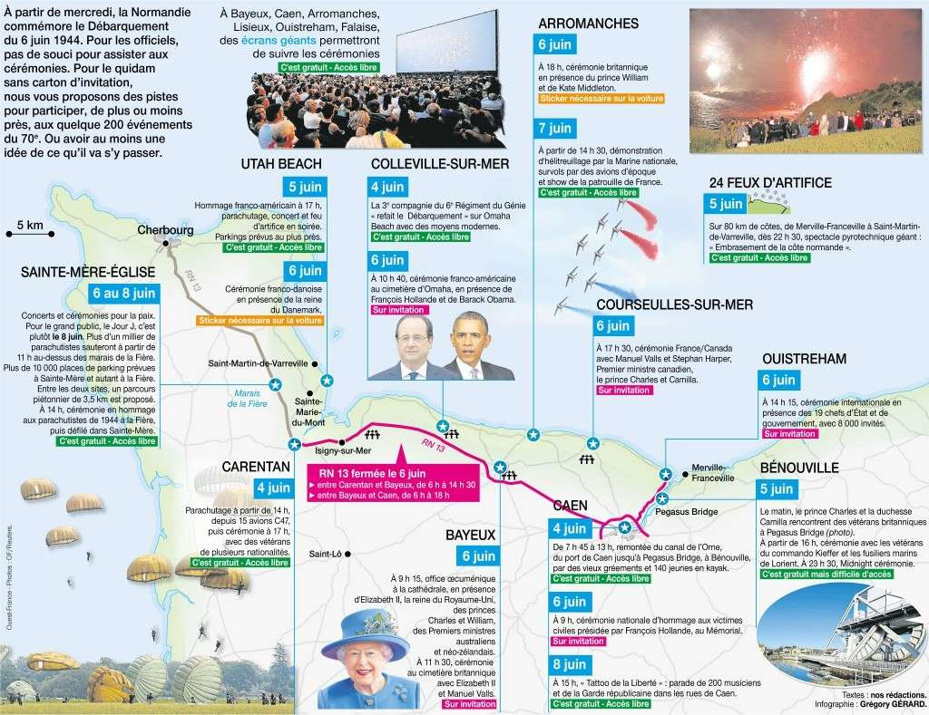 Le programme des cérémonies du D-Day à partir du 4 juin 25418211