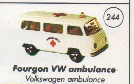 N°244 Volkswagen Fourgon VITRÉ Vw24410