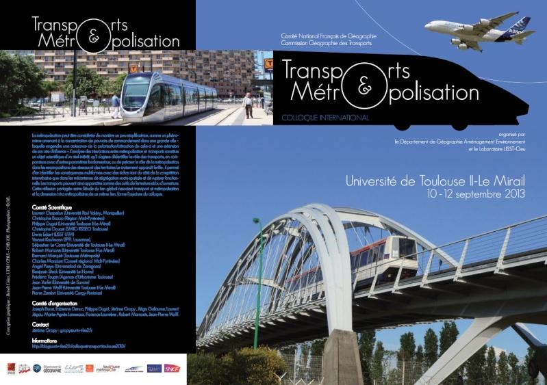 10-12 septembre 2013- TOULOUSE- Transports et Métropolisation Transp10