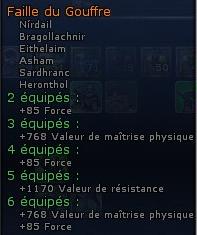 Set Dol Amoroth, Essences ou Faille du Gouffre Faille10