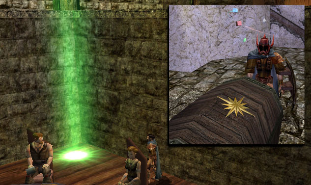 Why is there a shaft of green light in the Sleeping Dragon? Chesto10