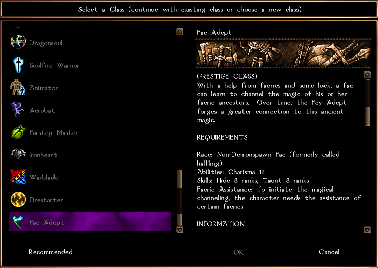 Jan. 1, 2013: Prestige Class: Fae Adept Faeade10