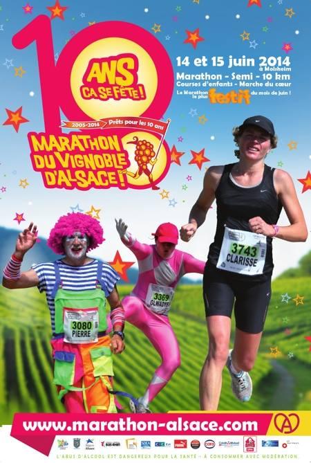 10 ème édition du Marathon du Vignoble d'Alsace et son passage à Wangen le 15 juin 2014 10246310