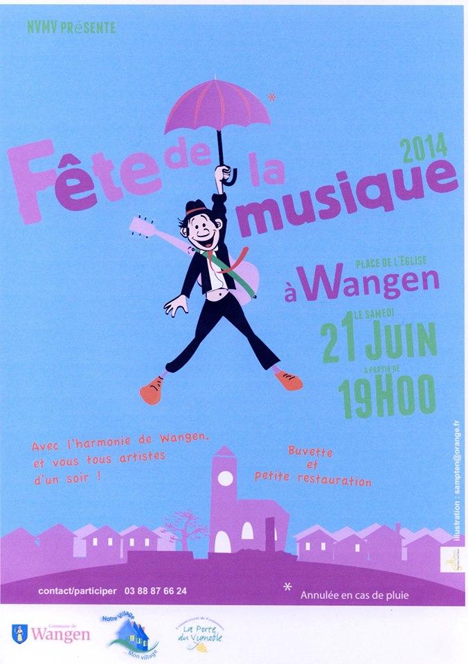 Fête de la Musique à Wangen le 21 juin 2014 à partir de 19h. 10417610