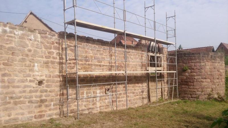 Chantier d'insertion pour la restauration du mur d'enceinte de Wangen - Page 2 10628411