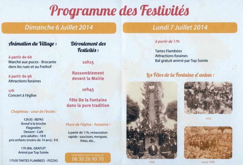 187 ème Fête de la Fontaine à Wangen les 6 & 7 juillet 2014 Image018