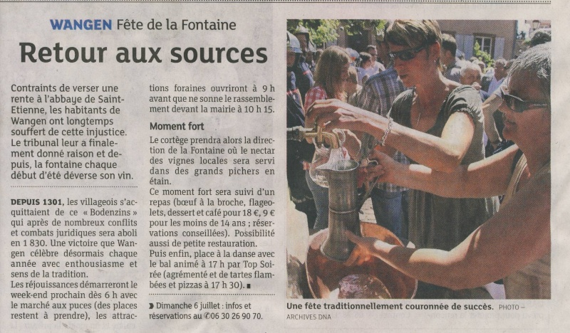 187 ème Fête de la Fontaine à Wangen les 6 & 7 juillet 2014 Image029