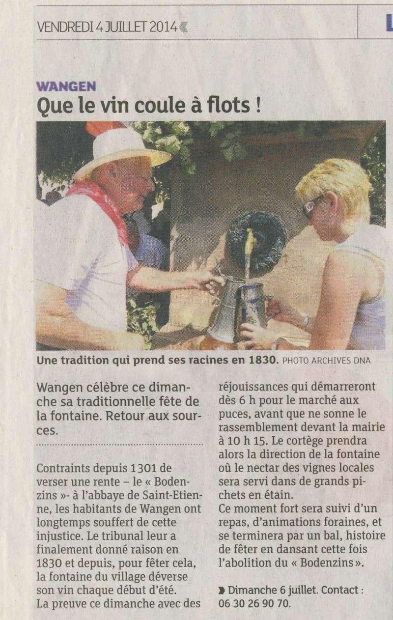 187 ème Fête de la Fontaine à Wangen les 6 & 7 juillet 2014 Image030