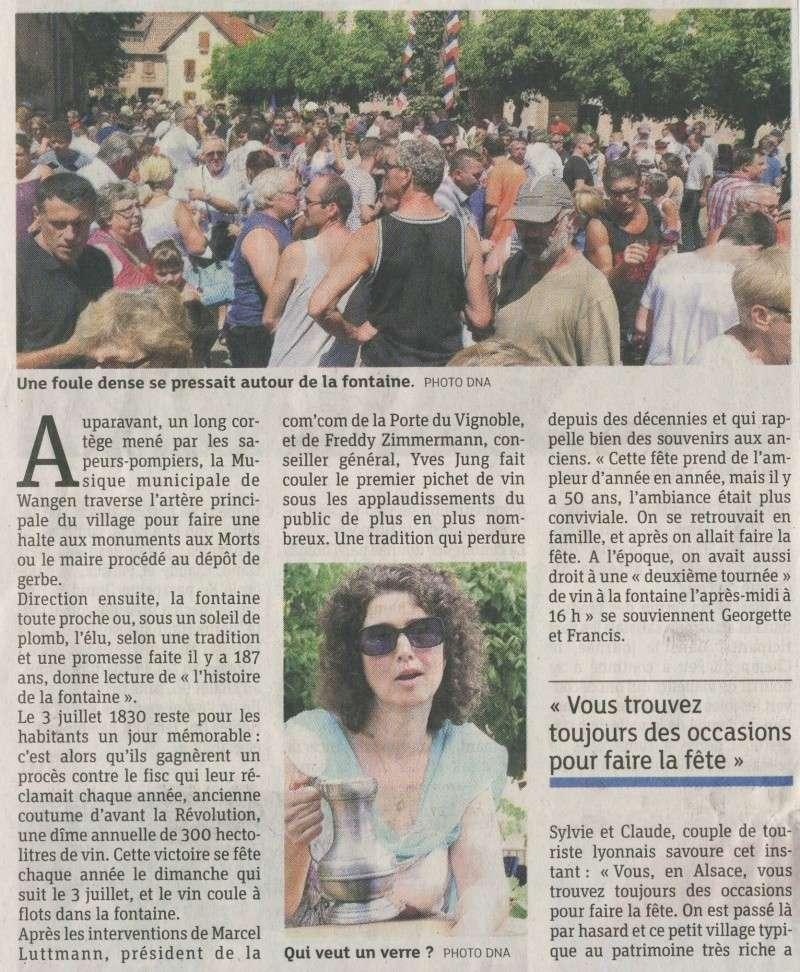 187 ème Fête de la Fontaine à Wangen les 6 & 7 juillet 2014 Image034