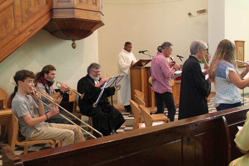 800 ème anniversaire du tympan de l'église simultanée de Wangen,dimanche 7 septembre 2014 Img_2112