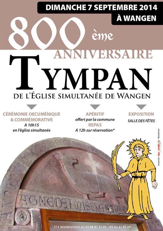 800 ème anniversaire du tympan de l'église simultanée de Wangen,dimanche 7 septembre 2014 Tympan10