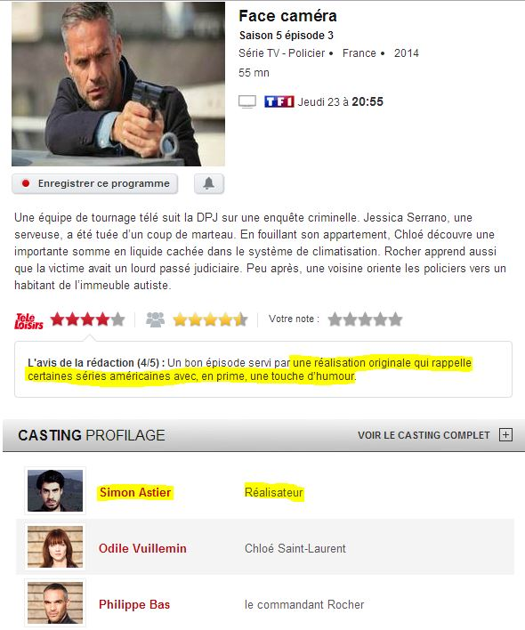 """[Série] """"Profilage"""" avec  Nicolas Berno et Simon Astier (2014) Hiuah10"""