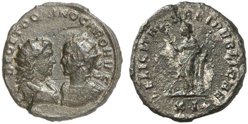 Carus - Carinus - Numerien et Sol sur une même monnaie 1752_310