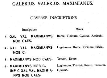 Aureliani pour Trèves de Dioclétien et de ses corégents  - Page 2 Galere13