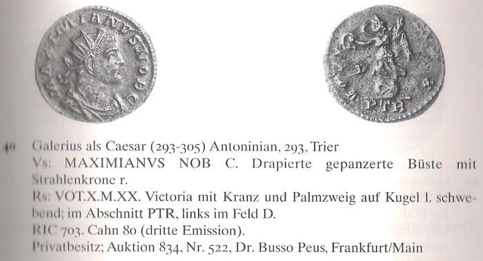 Aureliani pour Trèves de Dioclétien et de ses corégents  - Page 2 Galere15
