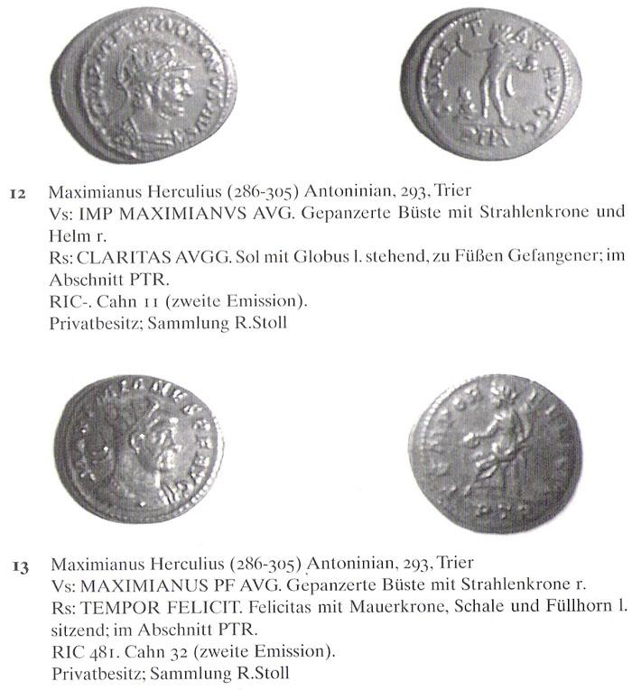 Aureliani pour Trèves de Dioclétien et de ses corégents  - Page 2 Maximi15