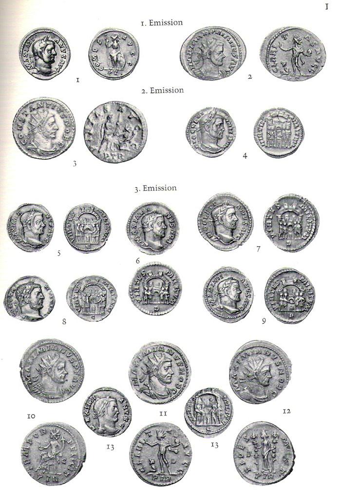 Aureliani pour Trèves de Dioclétien et de ses corégents  - Page 2 Numyri12