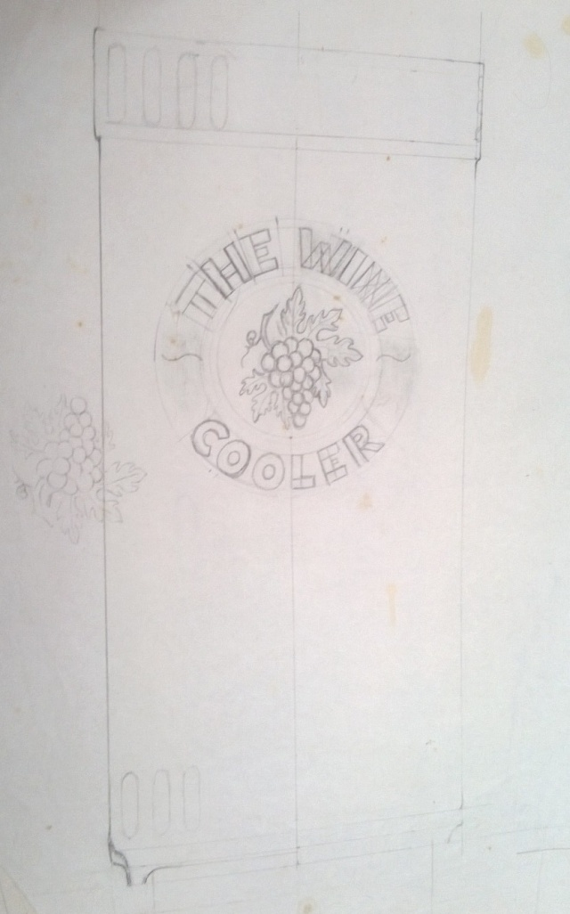 1327 Wine Cooler modellers drawing 21810