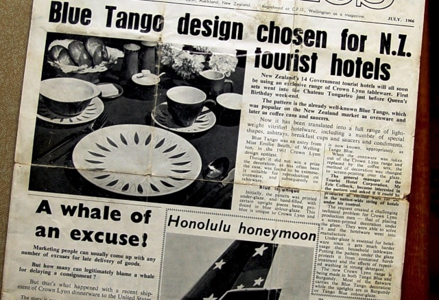 Found a 1966 article on Light Weight Vitrified Ware Blue_t10
