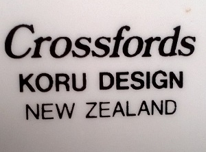 Crossfords dinnerware. Crossf12
