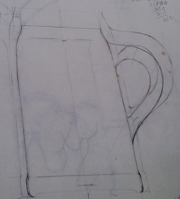 Modellers drawings of mugs to be identified ... D10